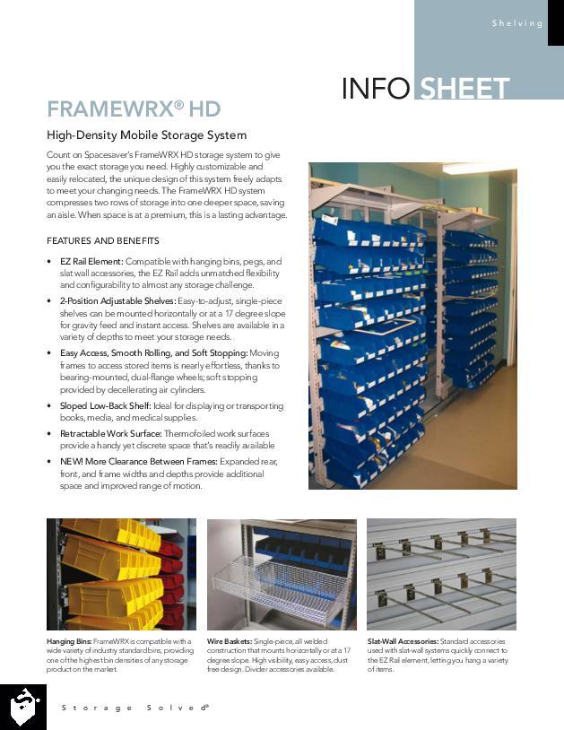 FrameWRX® Bin Shelving Modular Storage System