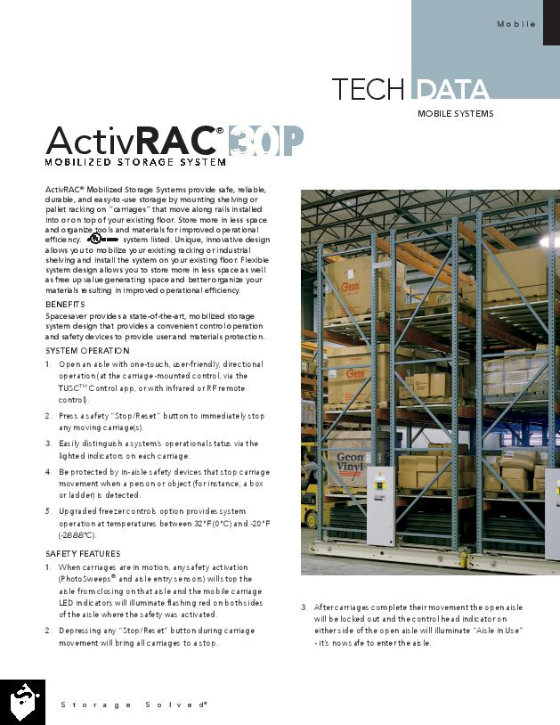 Heavy-Duty Mobile Storage Racking