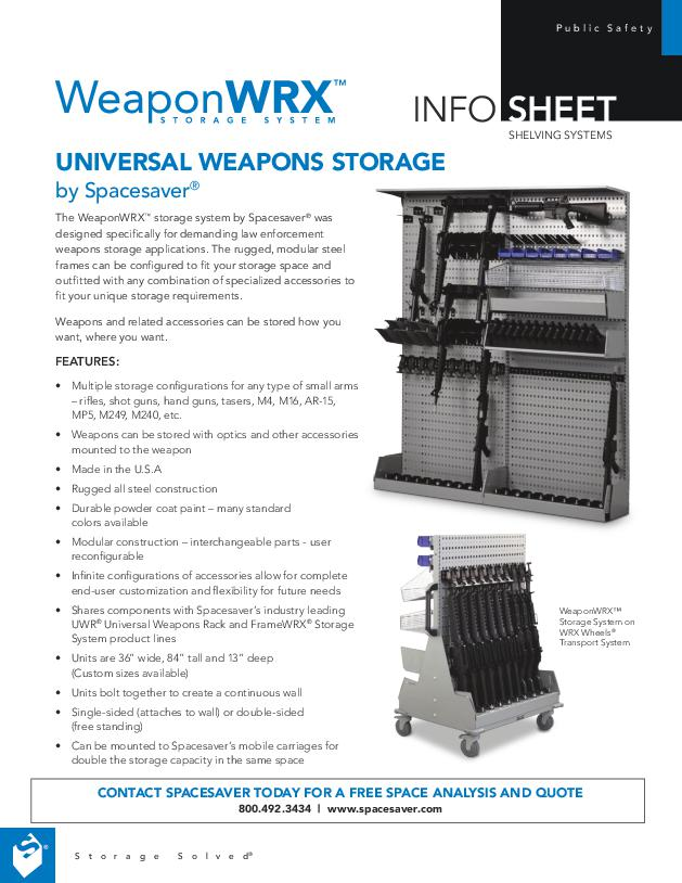 WeaponWRX™ Modular Weapon Shelving System