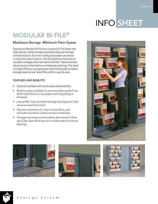 Modular Bi-File® Sliding Storage System