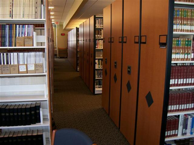 Library Stacks on Powered Mobile Shelving and Static Shelving Book Storage Book Shelving Wood-faced Cabinets Mobile Shelving High Density Shelving Mobile Shelving Education Library Book Shelves Library Racks Designer End Panels Alternative Materials Static Shelving Cantilever Library Shelving