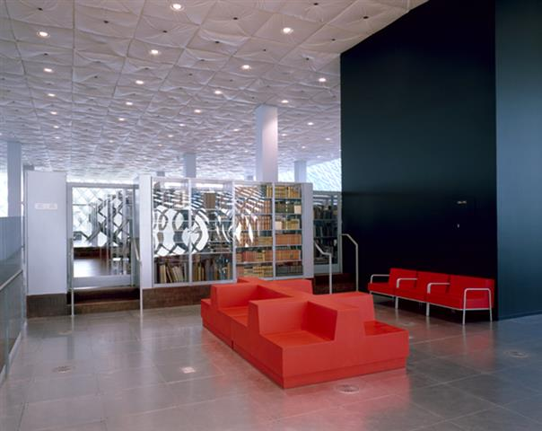 Lounge Area at Seattle Public Library Repurposing Seattle, WA Seattle Public Library LEED Sustainable Storage Education Library Shelving Cantilever Library Shelving Library Book Shelving Library Storage Library Shelving System Static Shelving Cantilever Shelving System