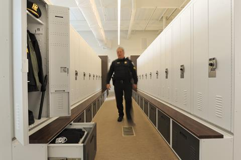 Police Lockers from Spacesaver Lockers Locker Storage Storage Locker Public Safety Equipment Locker Secure Storage Skokie, IL Police Lockers