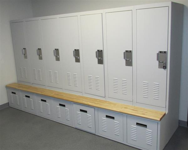 Equipment Locker at James City Police Department Lockers FreeSTYLE Personal Storage Locker Equipment Locker Locker Storage Storage Locker Public Safety Freestyle Lockers Secure Storage James City Police Department James City