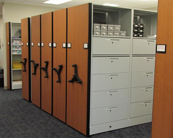 Equipment Storage Drawers at James City Police Deparment Mobile Shelving Mobile Shelving System Mobile Shelving Systems Mobile Shelving Units Mobile Storage Mobile Storage Shelving Mobile Storage System Mobile Storage Systems Moveable Shelving Moveable Storage Public Safety Equipment Locker Secure Storage James City Police Deparment James City