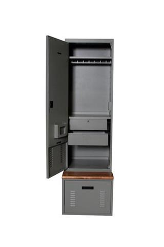 FreeStyle with bench and drawers Lockers Storage Locker Public Safety Equipment Locker Gun Storage Cabinets Secure Storage Secure Weapons Storage