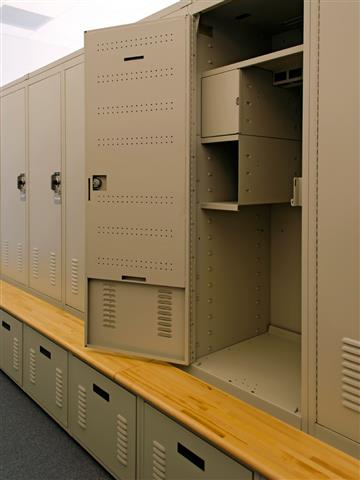 Personal Storage Locker and Bench Seat Spacesaver Lockers Storage Locker Public Safety Franklin Police Department Franklin, TN